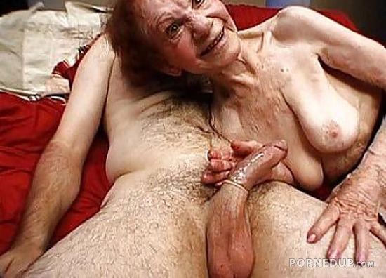 Gran sucking cock
