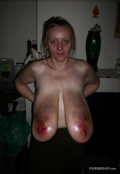 image Feet punished sub breast bonded and toyed