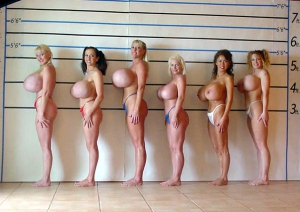 huge fake tits in police lineup