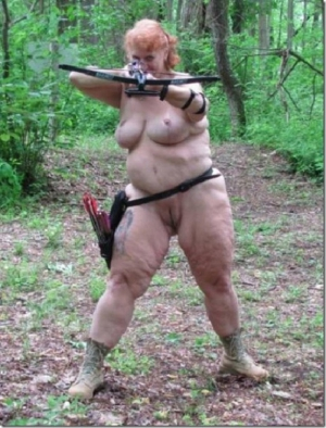 Naked Psycho Woman Will Shoot You In The Face