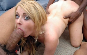 white girl sucks huge black cock