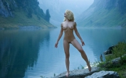 perfect naked babe in the mountains