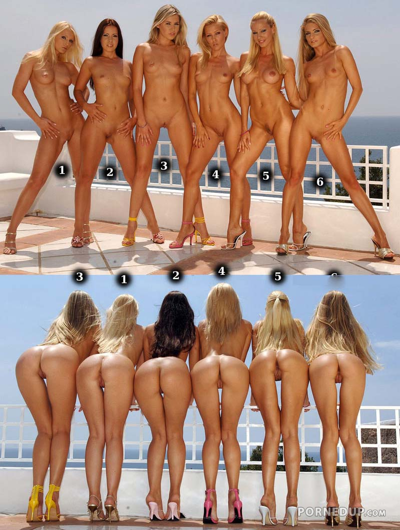 bending naked group of girls