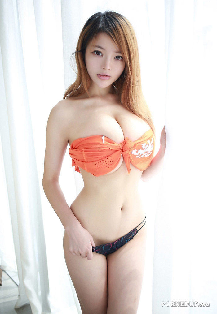 Beauty busty japanese girl with huge boobs him