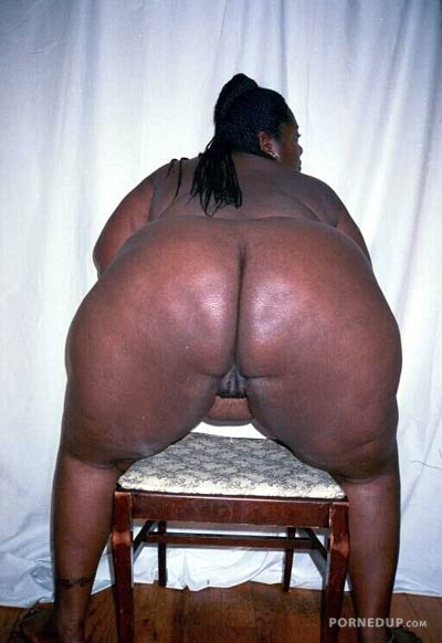 Fat woman bent over naked #4