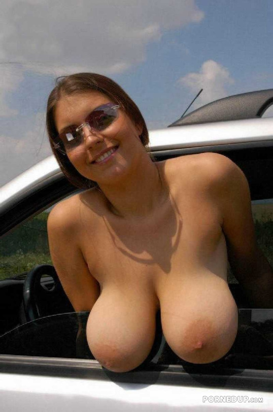 Flopping Her Tits Out The Window - Porned Up-5241