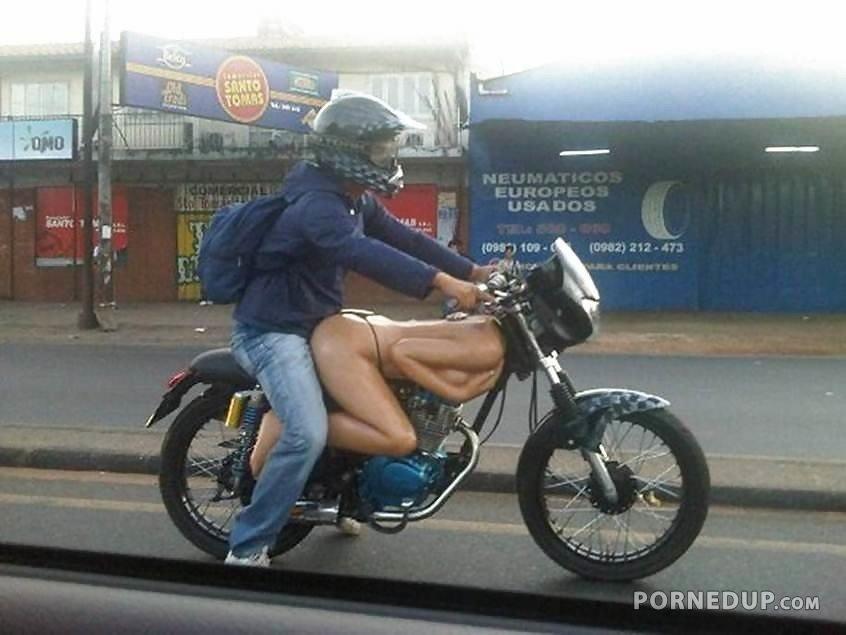 On motorcycle fucking