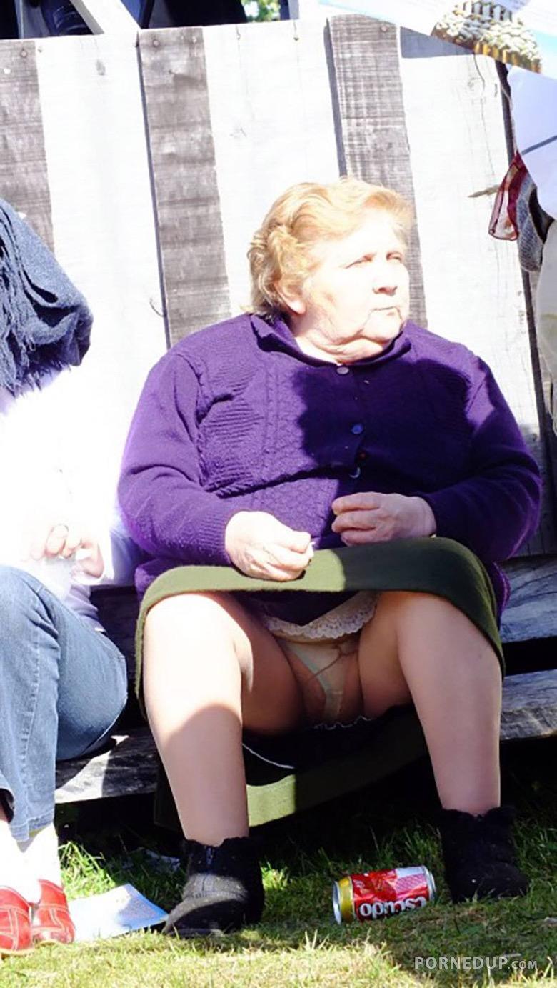 Upskirt Granny