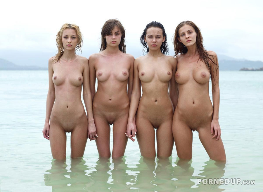 Group Of Naked Girls Showing Off - Porned Up-7357