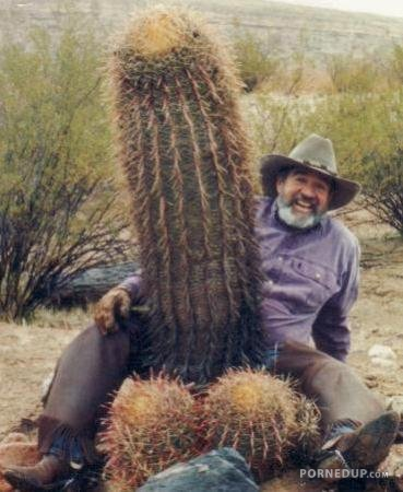 Man showing his cocktus