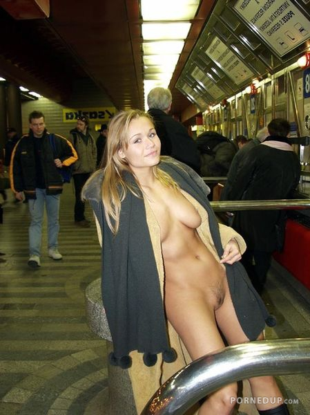 Naked On Train Station - Porned Up-1415