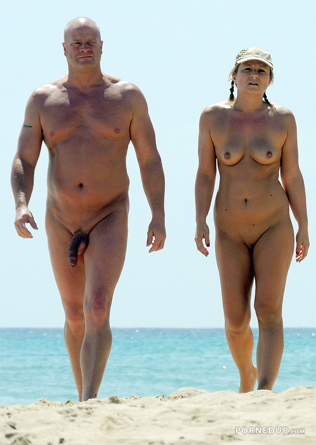 Nude Couple On Beach - Porned Up-3888