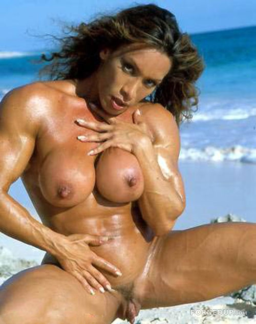 Nude female bodybuilders with a penis