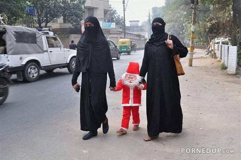 Muslims Escort Scary Little Santa
