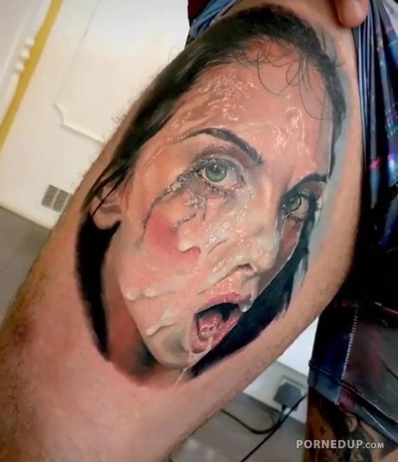 Think, that Huge cum on tattoo