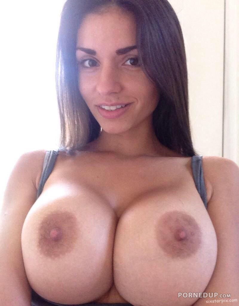 Brunette blonde big tits
