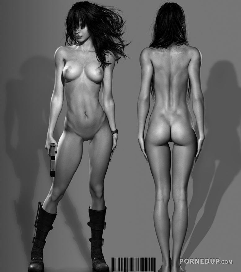 hot naked cgi woman