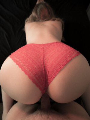 Big Ass Riding Cock With Panties On