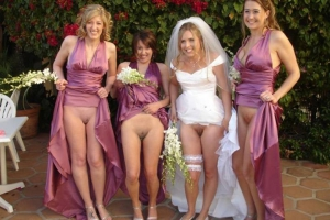 Bride And Bridesmaids Flashing Pussy