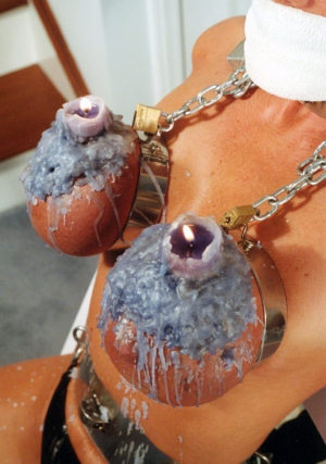 Candle Wax Tit Torture