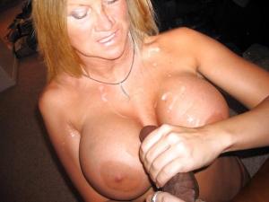 Cum on big boobs