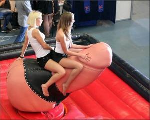 Girl Riding Big Mechanical Penis