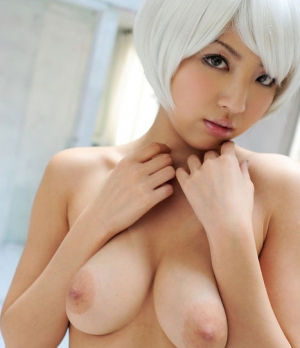 hot blonde japanese girl