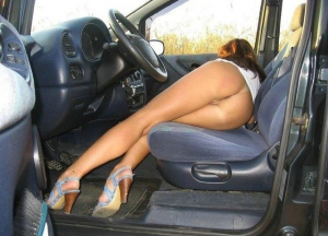 nice ass in the car