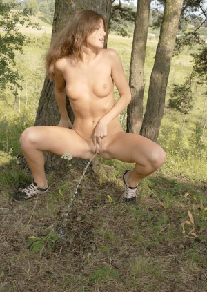 pee in forest