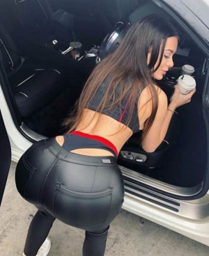 Perfect Big Booty In Leather Pants