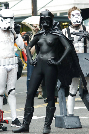 Sexy Darth Vader Body Paint