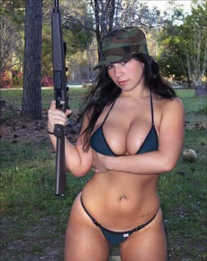 Sexy Hunter Babe With A Riffle