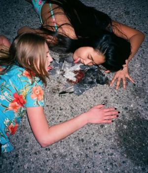 Sick Girls Licking Up A Dead Pigeon