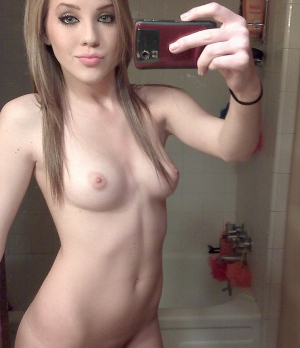 Small tits teen blonde selfie