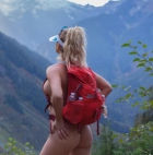 Babe gone hiking