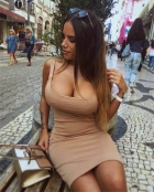 Busty Girl In The Street