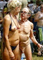 Creepy Old Nudist Harrassing Young Girls