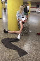 Public Pussy Eating At Subway Station