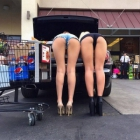 Sexy Asses At Supermarket