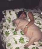 Woman Sleeping With A Pig