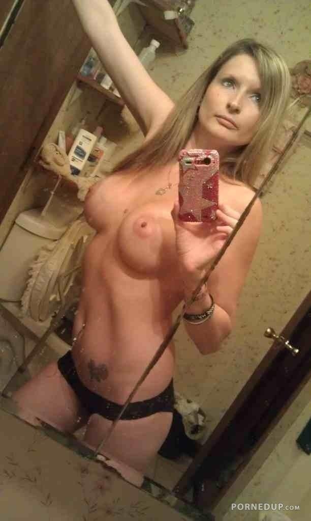 Consider, that horny blondie mom with huge tits selfie